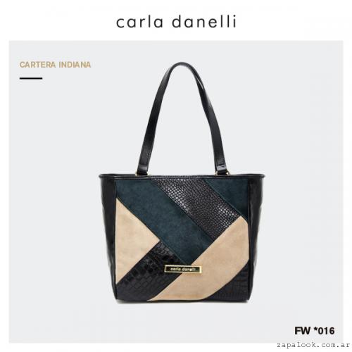 cartera mix de colores Carla Danelli invierno 2016
