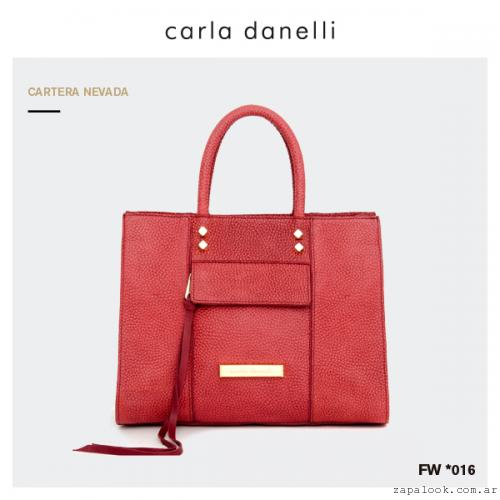 cartera roja Carla Danelli invierno 2016