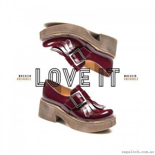 mocasines de charol bordo invierno 2016 - Margie Franzini Shoes