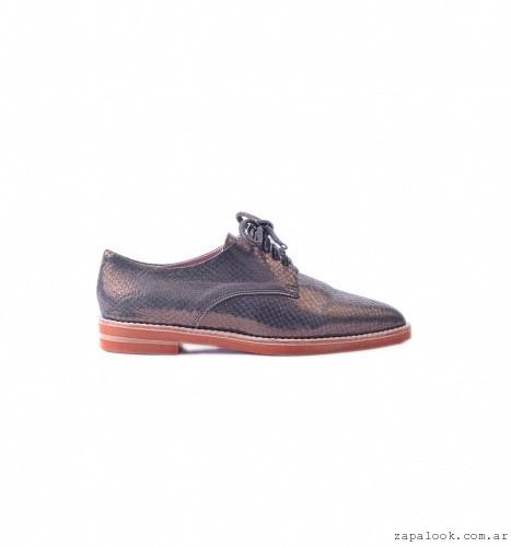 zapato acordonado bronce otoño invierno 2016 - Tosone