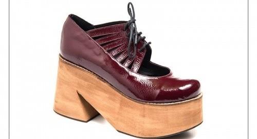 zapato de charol con plataformas invierno 2016 - Margie Franzini Shoes