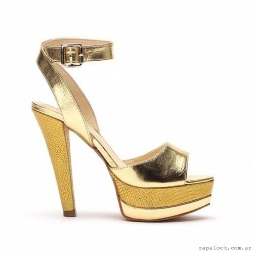 zapato dorado Pepe Cantero - Zapatos de fiesta invierno 2016