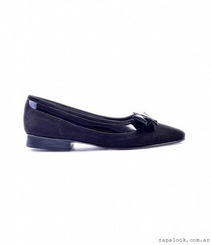 zapato gamuza y charol en punta otoño invierno 2016 - Tosone