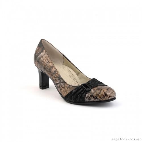 zapato punta redonda con taco  otoño invierno 2106 - calzados Valerio