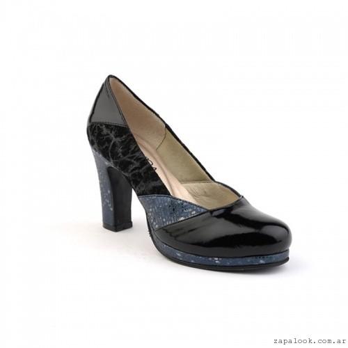 zapatos de punta redonda taco alto  otoño invierno 2106 - calzados Valerio