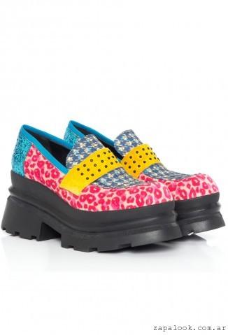 zapatos multicolor invierno 2016 - Sofi Martire