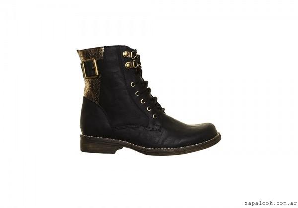 Borcego negro y dorado  - Berna calzados invierno 2016