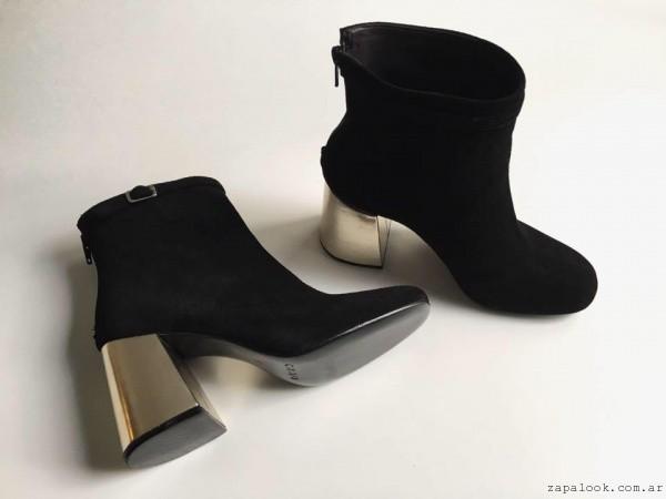 Botitas con taco dorado invierno 2016 - Chao Shoes