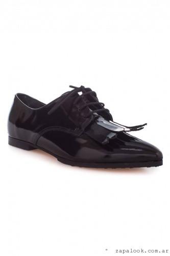 Clona - zapato acordonado charol invierno 2016