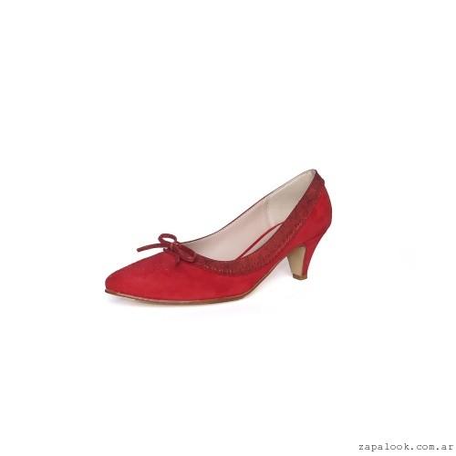 Stiletto bajo rojo de gamuza invierno 2016 - New Factory
