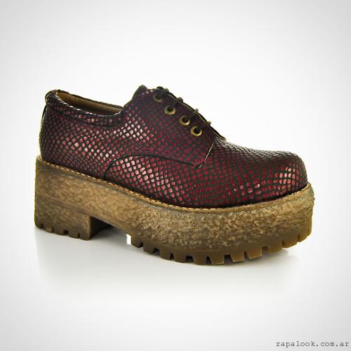 Zapato abotinados con plataformas  invierno 2016 - La Leopolda