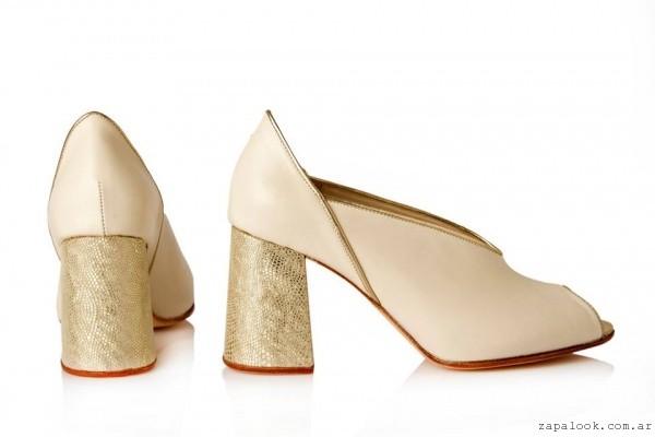 Zapato dorado  invierno 2016 - Josefina Ferroni