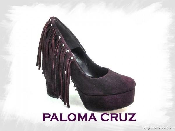 Zapatos altos con flecos invierno 2016 - PALOMA CRUZ