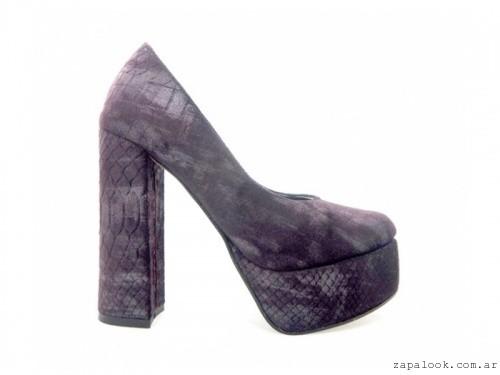 Zapatos altos estampados invierno 2016 - PALOMA CRUZ