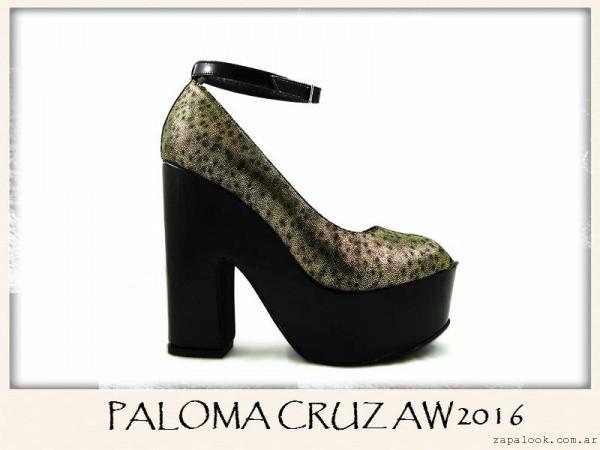Zapatos negros y dorados invierno 2016 - PALOMA CRUZ