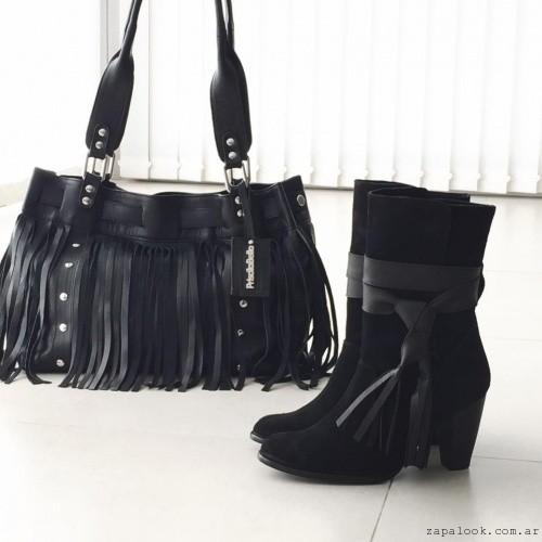 carteras con flecos y botas otoño invierno 2016 - Priscila Bella
