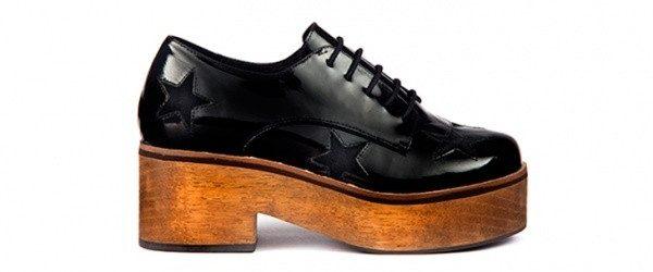 zapato abotinado  base madera invierno 2016 - Donne