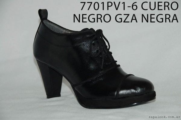 zapato acordonado con taco invierno 2016 - Nicolas Nieves