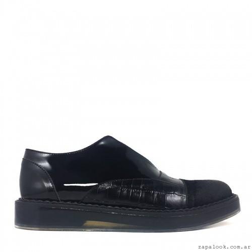 zapatos de charol con croco cuero invierno 2016 - L'TAU