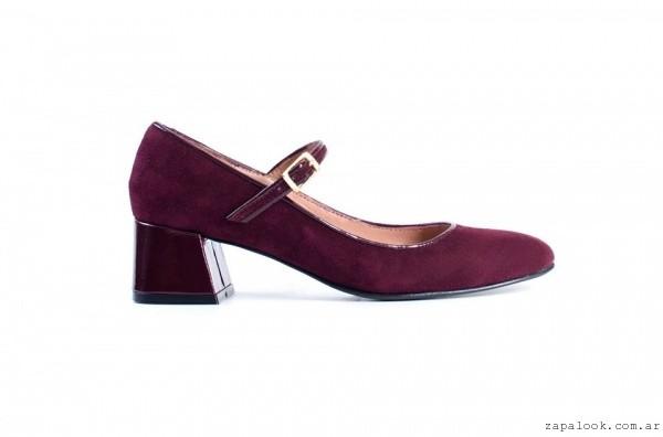 zapatos de gamuza bordo Renzo Rainero otoño invierno 2016