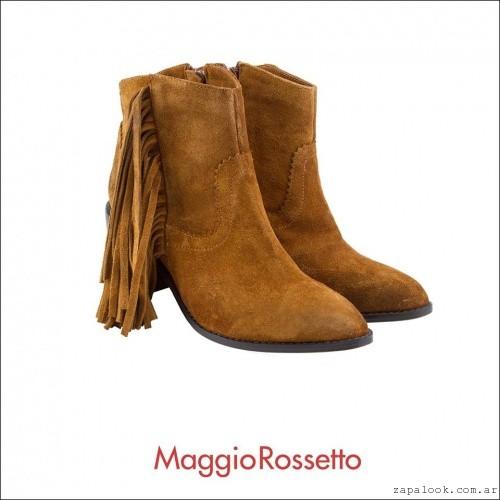 Botitas marrones gamuza invierno 2016 Maggio Rossetto