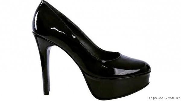 Gemmes - zapatos negros de charol tacones altos invierno 2016