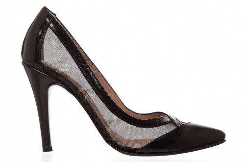 Stiletto negro con transparencias Sarim Shoes invierno 2016