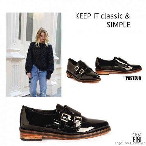 Zapatos negros de charol invierno 2016 - Cestfini