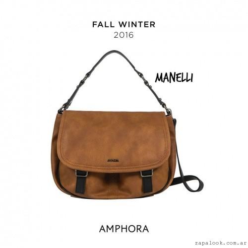 bandolera marron Amphora - carteras invierno 2016