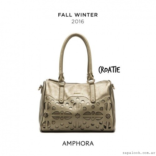bolso dorado Amphora - carteras invierno 2016