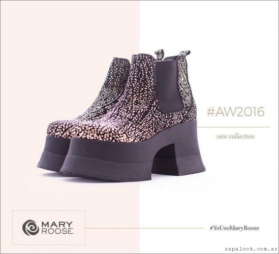 botas con plataformas  invierno 2016 - Mary Roose