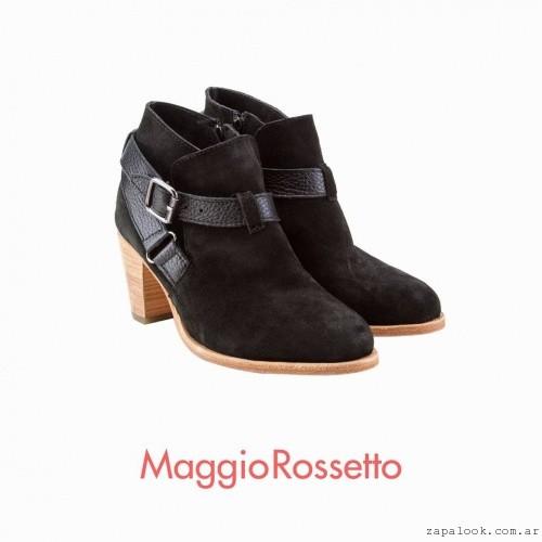 botas negras gamuza invierno 2016 Maggio Rossetto