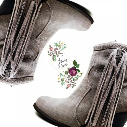 botas texanas con flecos invierno 2016 - BRUNA D' SANTIS