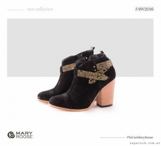 botineta gamuza negra  invierno 2016 - Mary Roose