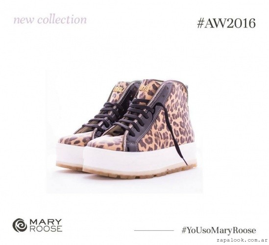 botitas animal print  invierno 2016 - Mary Roose