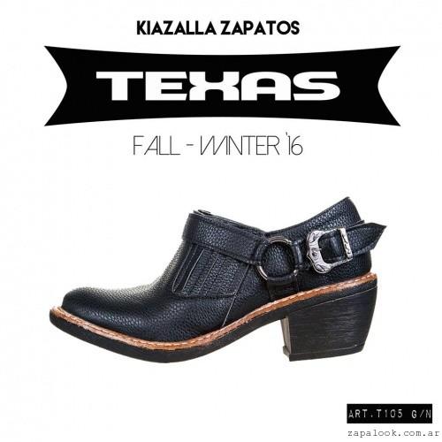 botitas negras texanas invierno 2016 - Kiazalla