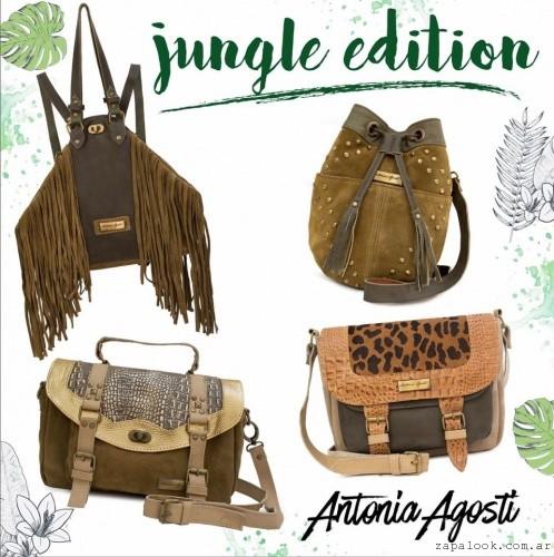 carteras y bolsos verdes y marron invierno 2016 Antonia Agosti Bags