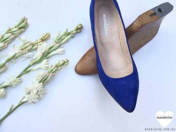stilettos azules gamuza  - calzados Mandarine