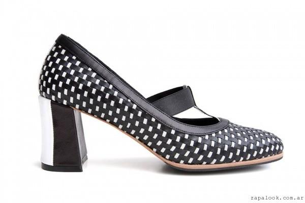 sylvie geronimi - zapatos de cuero trenzado invierno 2016