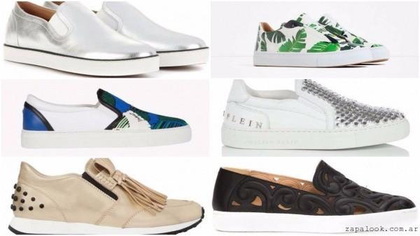 zapatillas urbanas y panchas de moda verano 2017