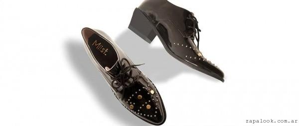 zapatos abotinados de charol invierno 2016 - Miist