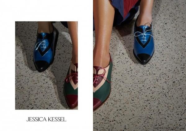 zapatos en punta abotinado  invierno 2016 - Jessica Kessel Shoes