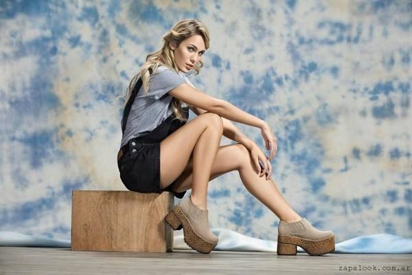 Lady Comfort - botitas marrones con plataformas invierno 2016
