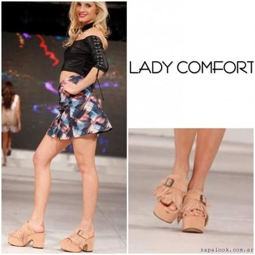 Sandalias con plataformas y flecos verano 2017 - Lady Comfort