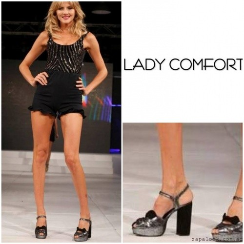 Sandalias de fiesta plateadas verano 2017 - Lady Comfort