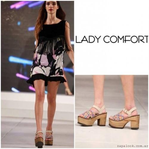 Sandalias estampadas con plataformas verano 2017 - Lady Comfort