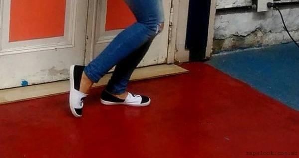 Tracy - zapatillas negras y blancas verano 2017