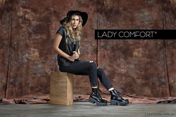 borcego de charol Lady Comfort invierno 2016