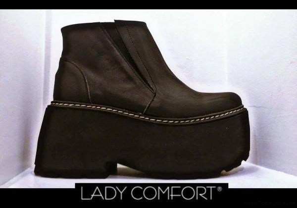botas negras con plataformas Lady Comfort invierno 2017