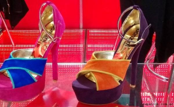 Sandalia gamuza de colores  verano 2017 Bonzini Shoes